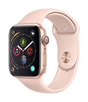 AMAZON.es l Apple Watch Series 4 (GPS + Cellular) Aluminium 44mm Gold mit Sportarmband sandrosa (MTVW2FD/A)