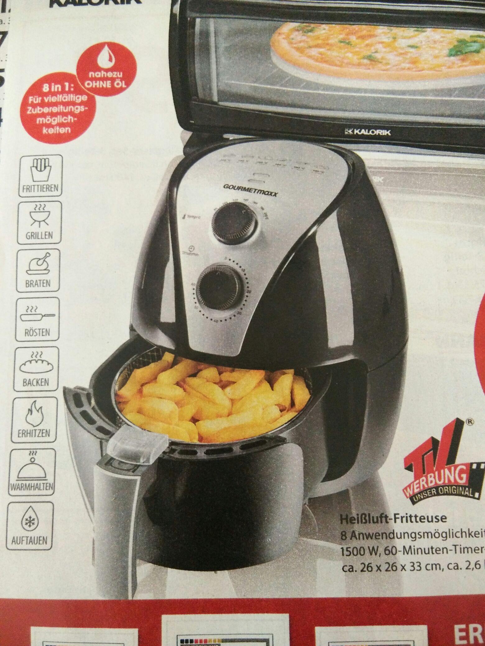 NKD: Gourmetmaxx Heißluft-Fritteuse mit 1500W, 2,6L