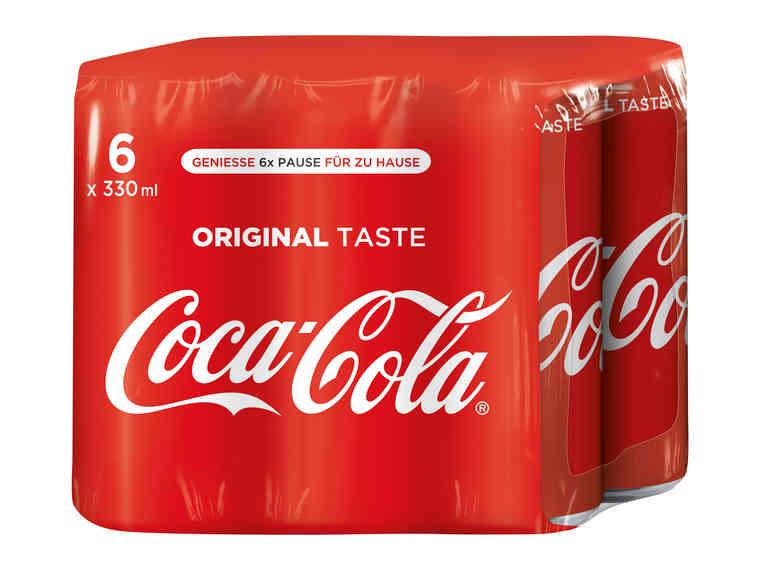 Coca Cola (Zero) 0,33l im 6er Pack