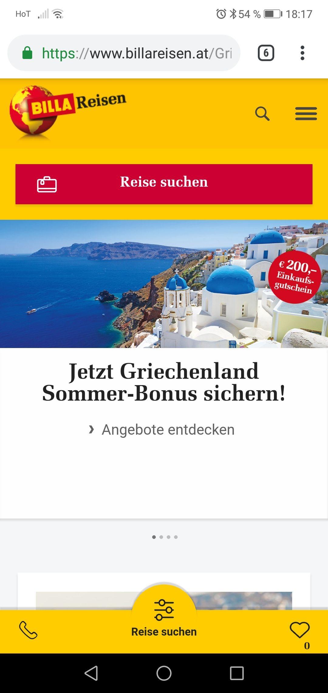Billa Reisen im Juli und August nach Griechenland und 200 Euro billa einkaufsgutschein bekommen
