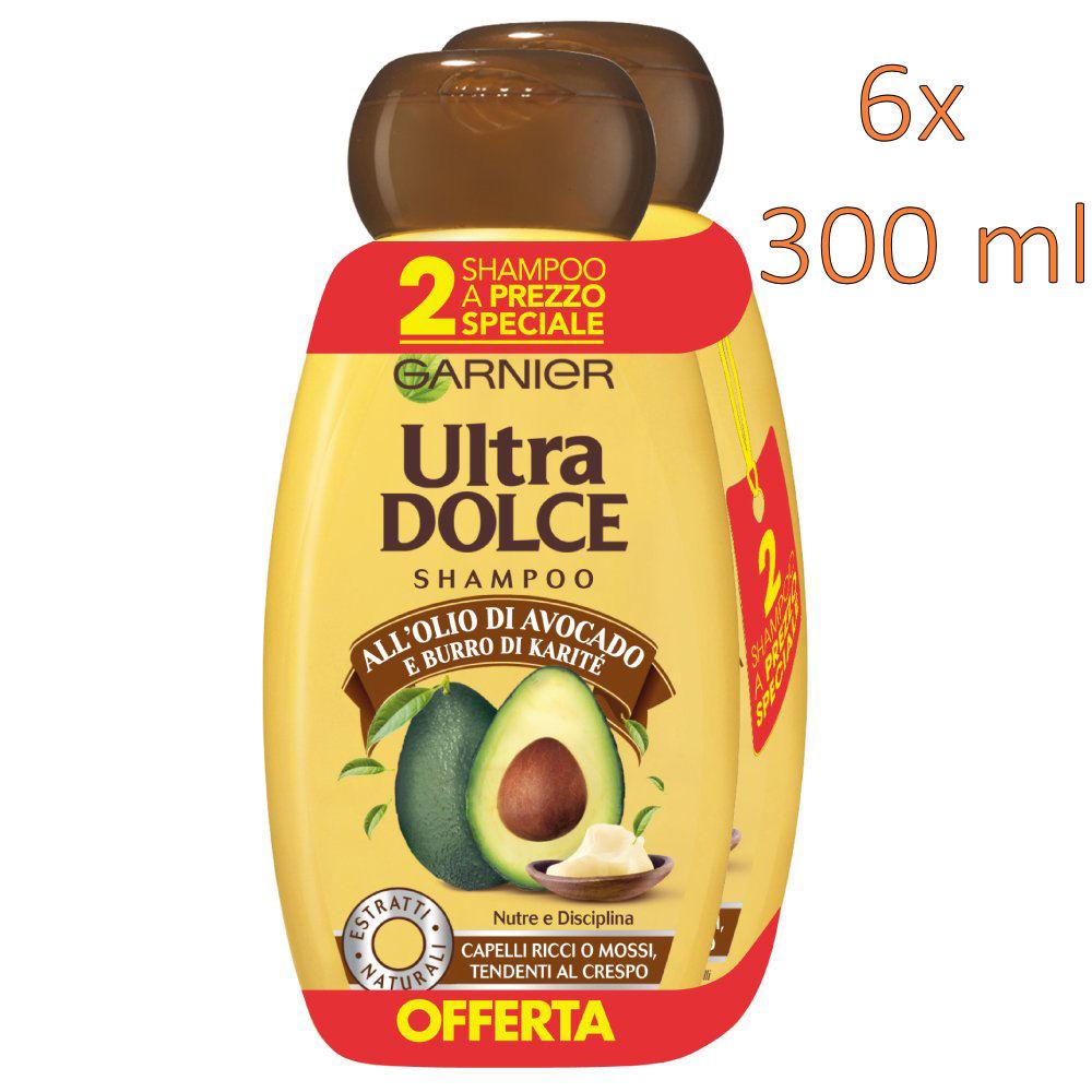 www.AMAZON.de Garnier l Ultra süßes Shampoo 6 Stück 300 ml [3 X 2er-Pack] Avocadoöl und Sheabutter
