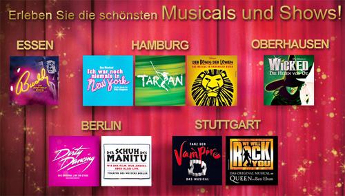 Musical Tickets zum halben Preis in den höchsten Preisklassen bei vente-privee