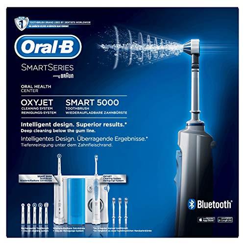 Oral-B Mundpflege-Center Smart 5000 Elektrische Zahnbürste + OxyJet Munddusche