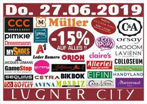 Lugner City: -15% auf alles in 33 Shops