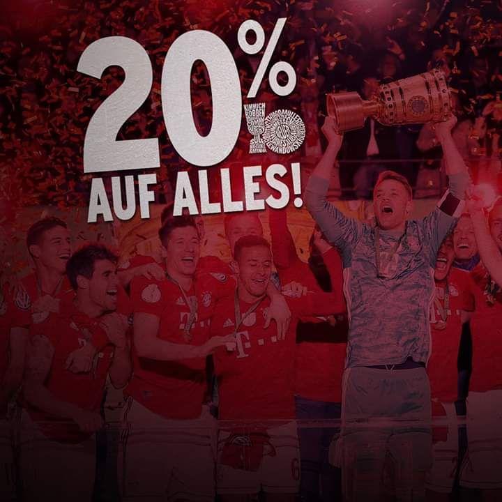 -20% auf alles im FCB onlineshop