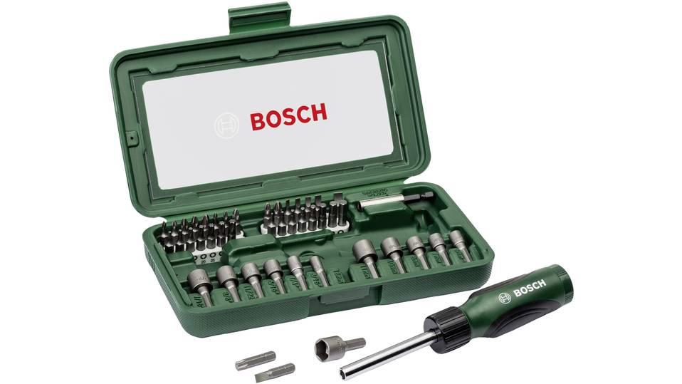 Bosch Bitset/Steckschlüsselsatz, 46-tlg. (2607019504)