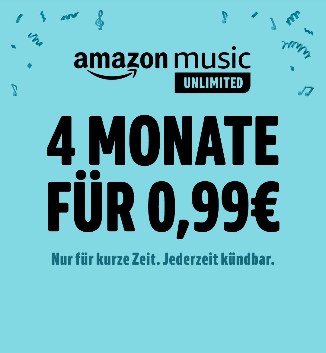 4 Monate Amazon Music Unlimited