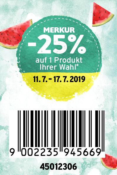 Merkur -25% Rabatt-Pickerl Online (11.07. bis 17.07.2019)