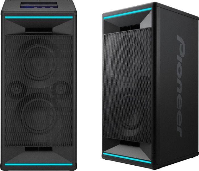Pioneer Club 5 Bluetooth Lautsprecher (LED Lichteffekten, Voice Control, USB für MP3 Wiedergabe, App, 2 x 60 W RMS)
