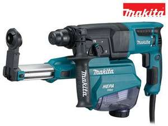 Makita HR2652 SDS-Plus Bohrhammer (Absaugung, Hepafilter)
