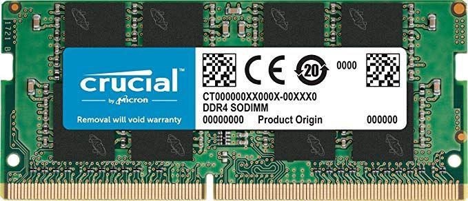 Crucial CT4G4SFS632A 4GB Speicher (DDR4, 3200 MT/s, PC4-25600, CL22, Single Rank x16, SODIMM, 260-Pin)