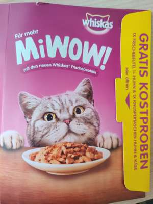 Gratis Whiskas Katzenfutter bei der Post.at