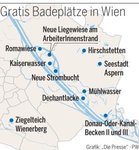 (Sommer 2019) - Top GRATIS Badeplätze in Wien