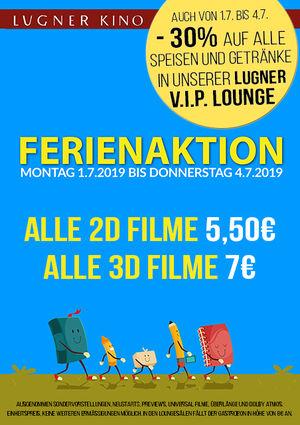 Lugner Kino - alle Filme um 5,50 € - bis 4.7.2019