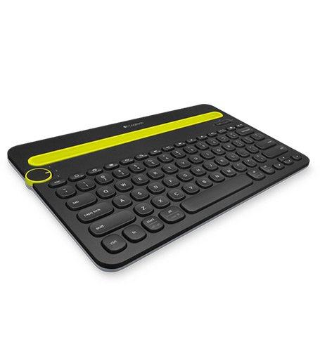 Logitech K480 Tastatur für Mobilgeräte Schwarz Bluetooth - Tastaturen für Mobilgeräte (Apple, Android,iOS, Batterie/Akku, AAA, Kabellos)