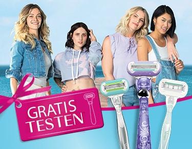Gillette Venus Rasierer GRATIS testen - 100% Cashback