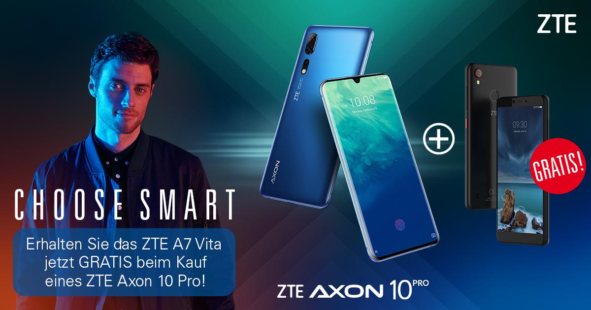 electronic4you.at - ZTE Axon 10 Pro 128Gb + GRATIS ZTE A7 Vita schwarz ! Solange der Vorrat reicht !