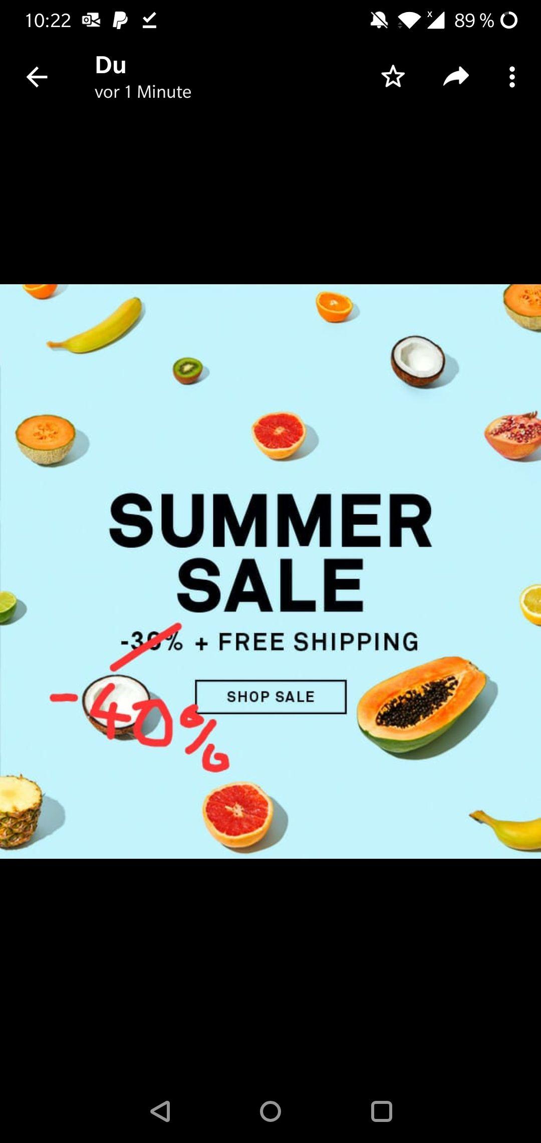 Happy socks -40% summer sale
