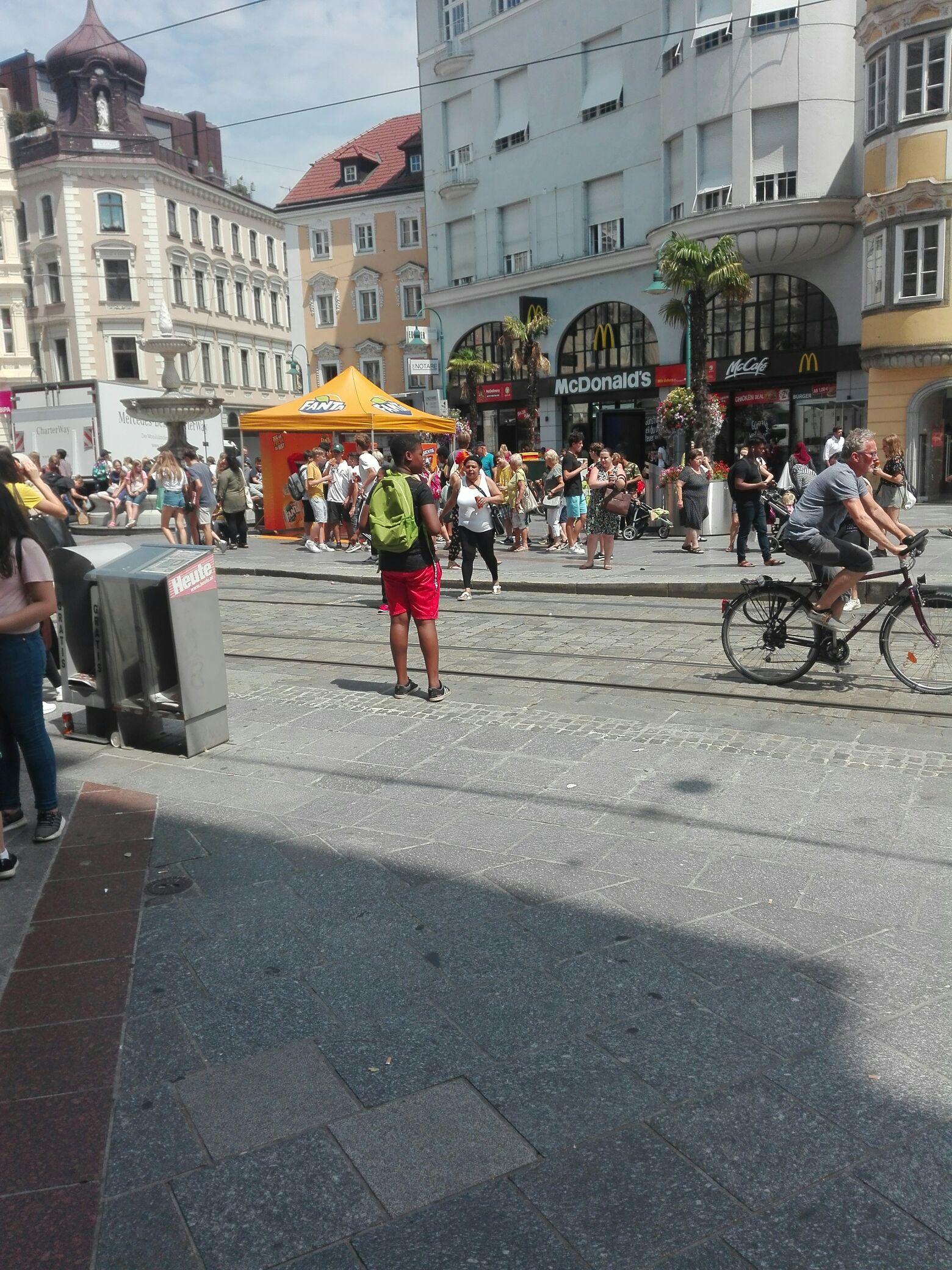 Fanta kostenlos - Taubenmarkt Linz