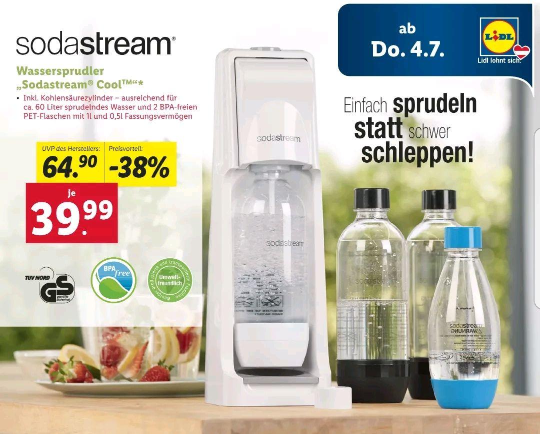 [LIDL] Wassersprudler SODASTREAM Cool ab 4.07