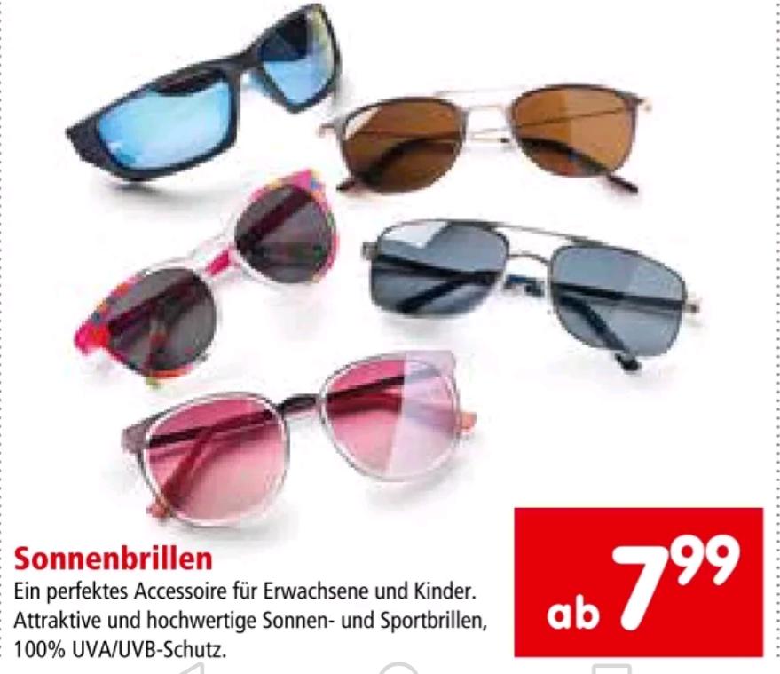 Cashback auf Sonnenbrillen
