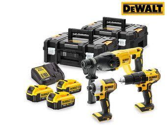 DeWalt DCK372M3T-QW Set mit bürstenlosen Schraubern und Bohrern inkl. 3x 4Ah Akkus