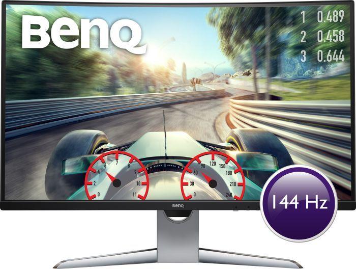 BenQ EX3203R 31,5 Zoll Curved Gaming Monitor (HDMI, QHD 2K HDR, 1800R, FreeSync 2, B.I. Sensor, Display Port, USB-C, 144 Hz)