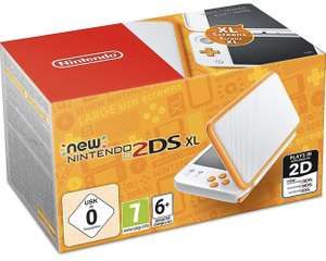 Nintendo New 2DS XL in Weiß/Orange