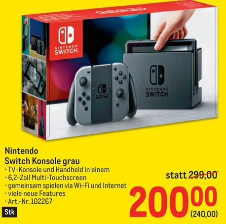 [Metro] Nintendo Switch schwarz/grau