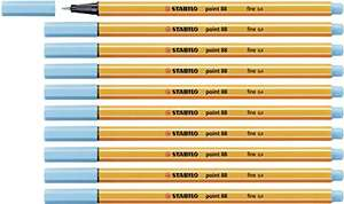 10x Stabilo Point 88 Fineliner, azurblau