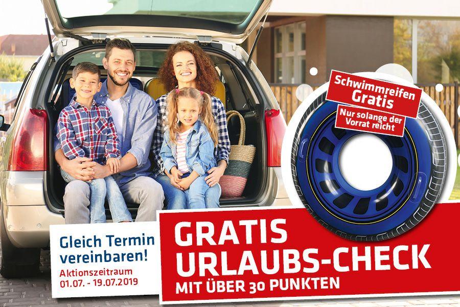 Gratis Urlaubs-Check für PKW bei Reifen John