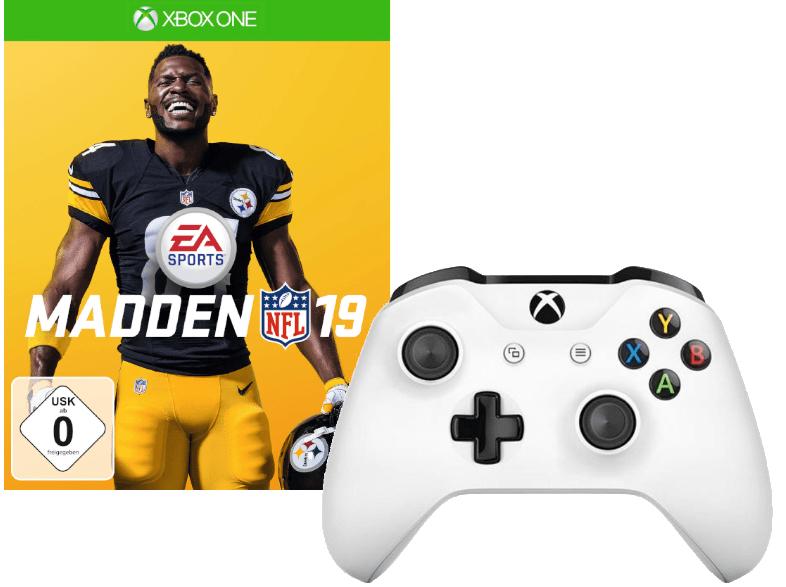 MICROSOFT Xbox Wireless Controller weiß + Madden 19