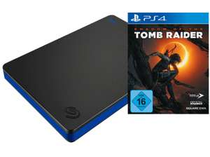 SEAGATE Externe Game Drive für PS4, 2TB (STGD2000400), blau/schwarz + PS4 Shadow of the Tomb Raider
