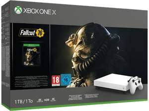 MICROSOFT Xbox One X 1 TB Robot White Special Edition Fallout 76 Bundle