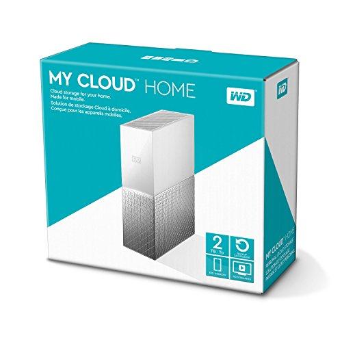 WD My Cloud Home 2 TB - Persönlicher Cloudspeicher - externe Festplatte – WLAN, USB 3.0, zentrales Speichern, Videostreaming