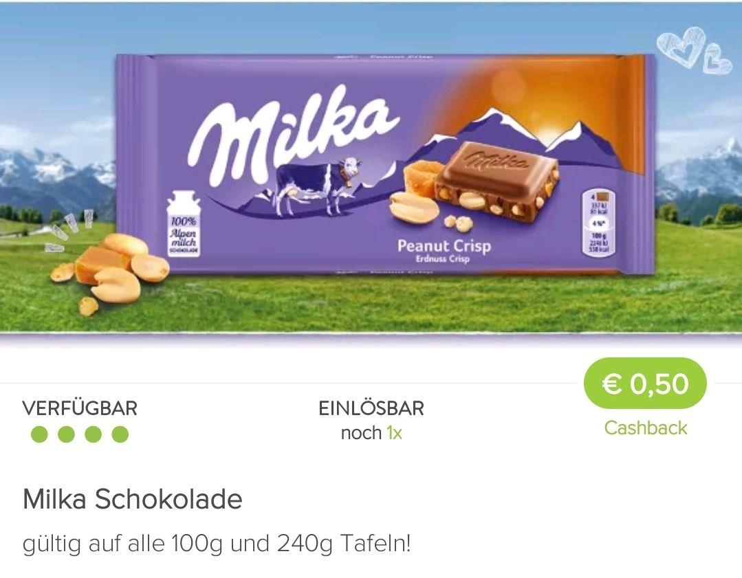 Milka mit Promocode und Cashback besonders günstig