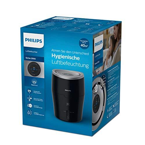Philips HU4814/10 Luftbefeuchter (bis zu 44m², leiser Nachtmodus, 2L Wassertank)