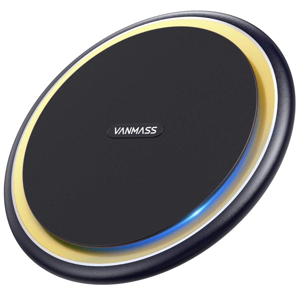 (Schnell sein / Blitzangebot) VANMASS Fast Wireless Charger Qi 15W Induktive Ladestation