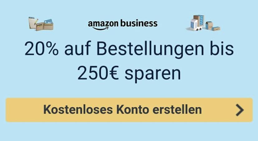 Amazon.de - 20% Rabatt bei Anmeldung zu Amazon Business