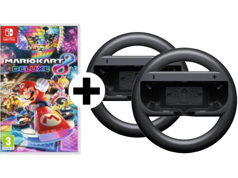 Mario Kart 8 Deluxe + 2 Stück Joy-Con Lenkrad (Switch)