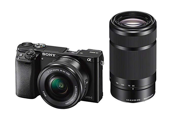 Sony Alpha 6000 mit Objektiv AF E 16-50mm 3.5-5.6 OSS PZ und 55-210mm 4.5-6.3 OSS