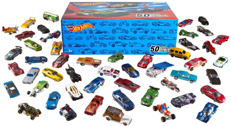 Hot Wheels 50er Pack 1:64 Die-Cast Fahrzeuge - extra großes Geschenkset, je 50 Spielzeugautos