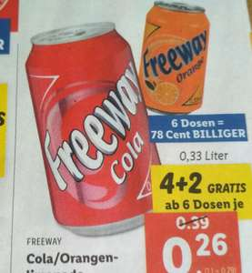 Freeway Cola oder Orange 0,33 Dose bei Lidl
