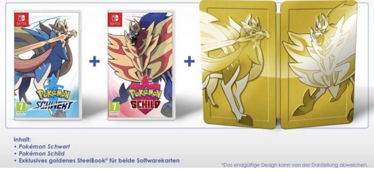 Pokemon Schwert & Pokemon Schild+ exklusives Steelbook, oder Einzeln