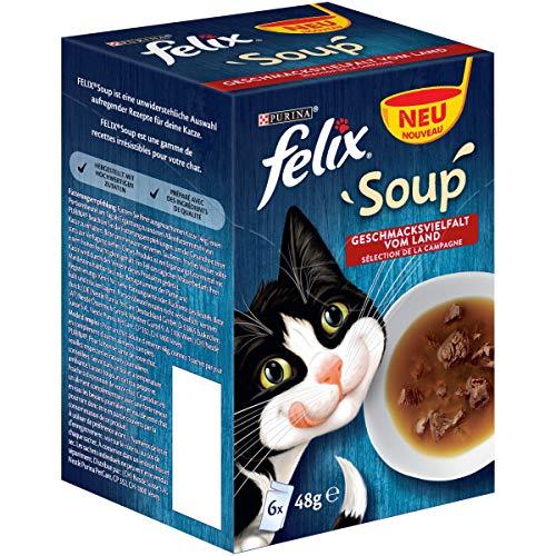 Felix Katzennassfutter Soup 8 x 288 g Portionsbeutel