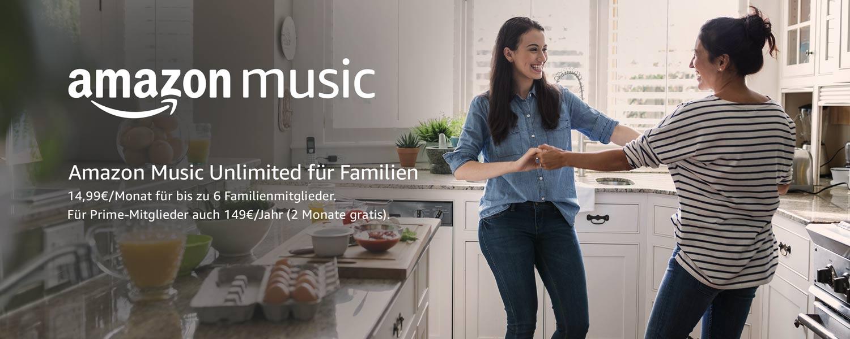 [Amazon] Amazon Music Family 2 Monate kostenlos für Bestandskunden
