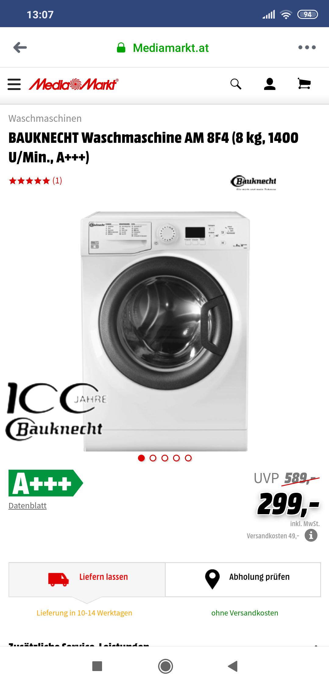 Bauknecht Waschmaschine AM 8F4