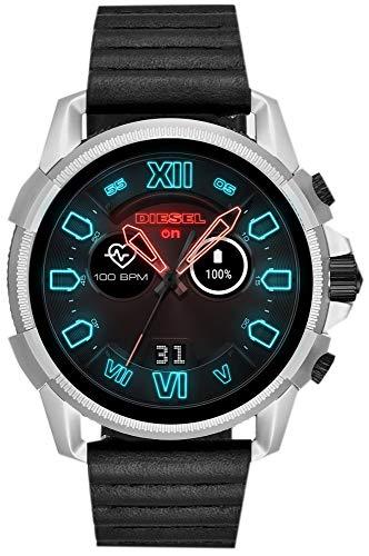 Diesel On Full Guard 2.5 Smartwatch silber/schwarz mit Lederarmband