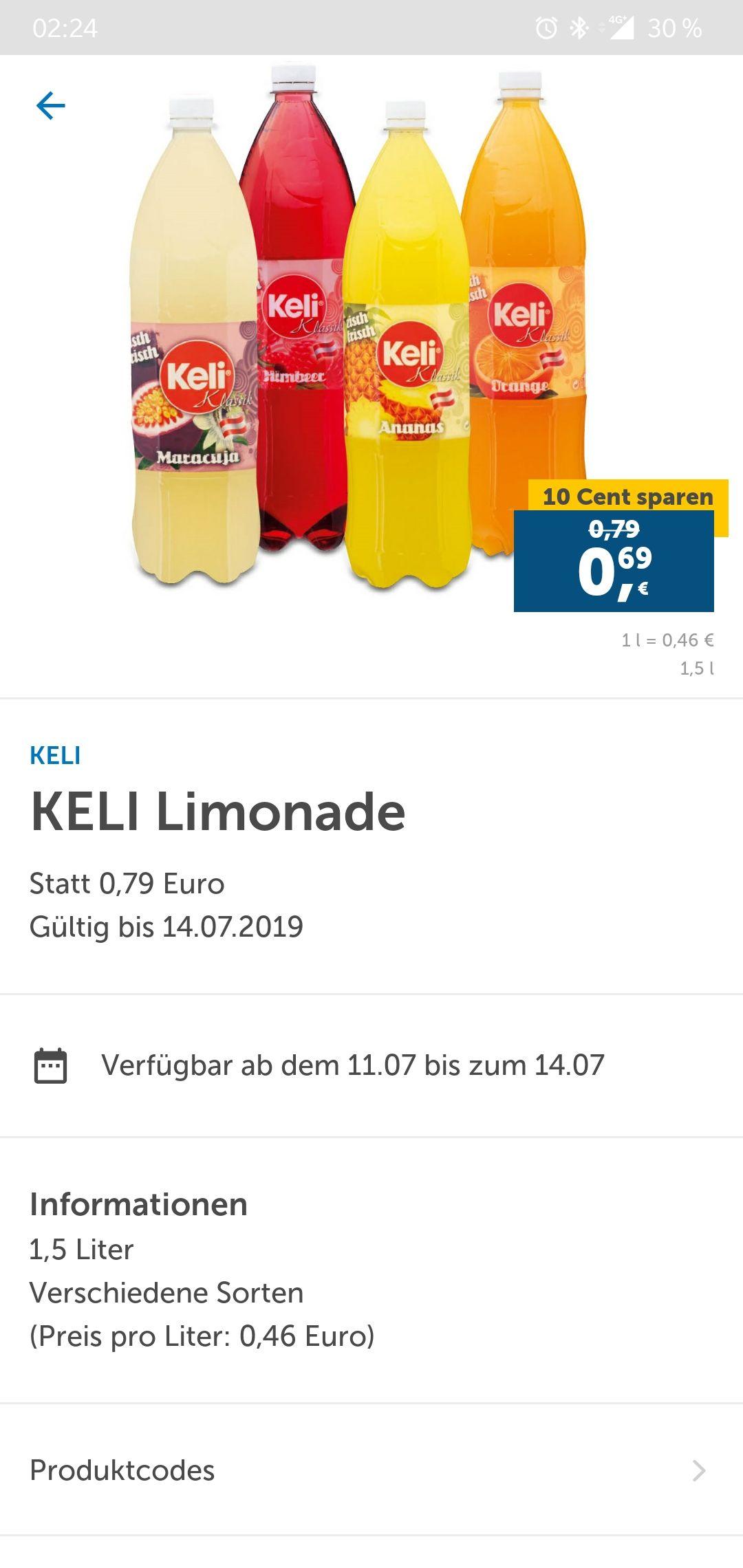 Original KELI 1,5L ver.  Sorten nur 0,69€ / LIDL