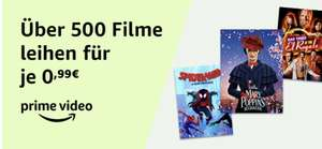Prime Deal - Über 500 Leihfilme für je 0,99€